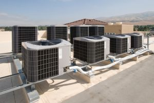 rooftop ac units on top of commercial building