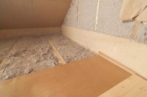 attic-with-cellulose-insulation